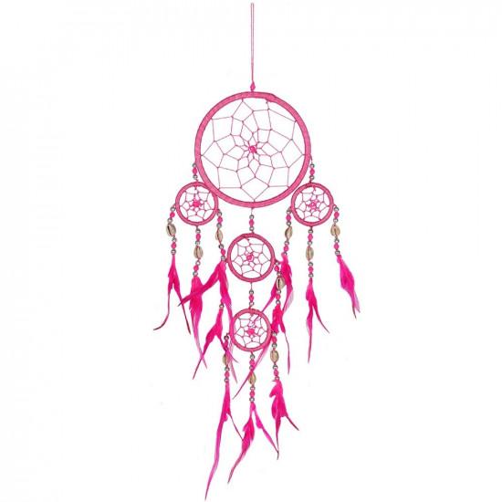 Rosa drømmefanger med skjell
