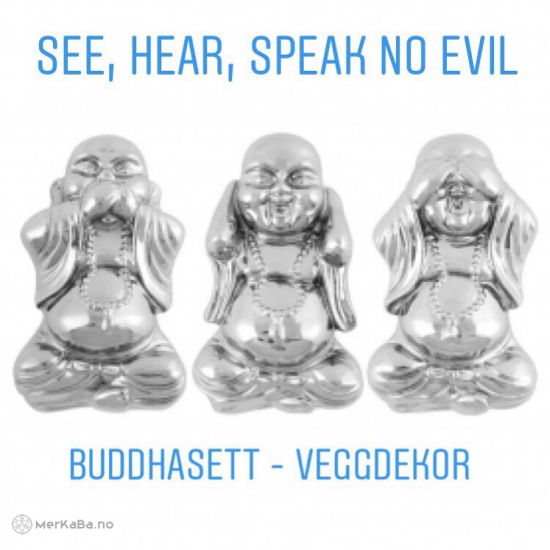 See, Hear, Speak no evil - Buddha sett