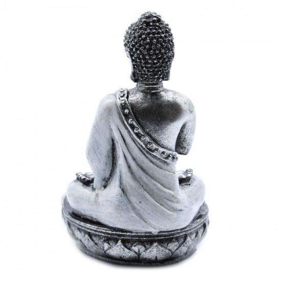 Buddha - Lysholder - Sølv og Hvit