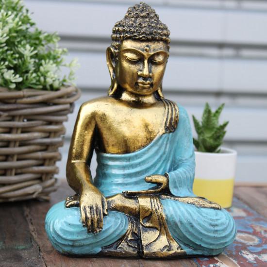 Buddha - Gull og Blå - Large