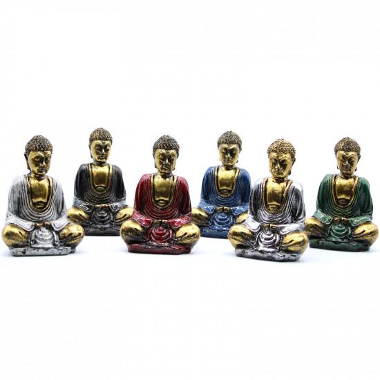 Buddha - Gull med farger