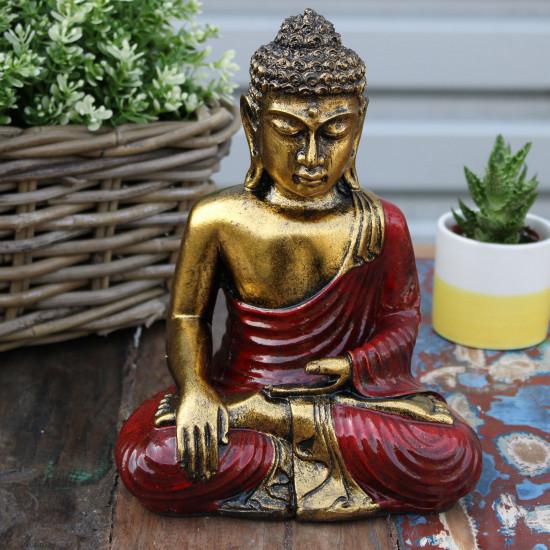 Buddha - Gull og Rød - Large