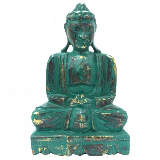 Buddha - Mediterende - Sjøgrønn