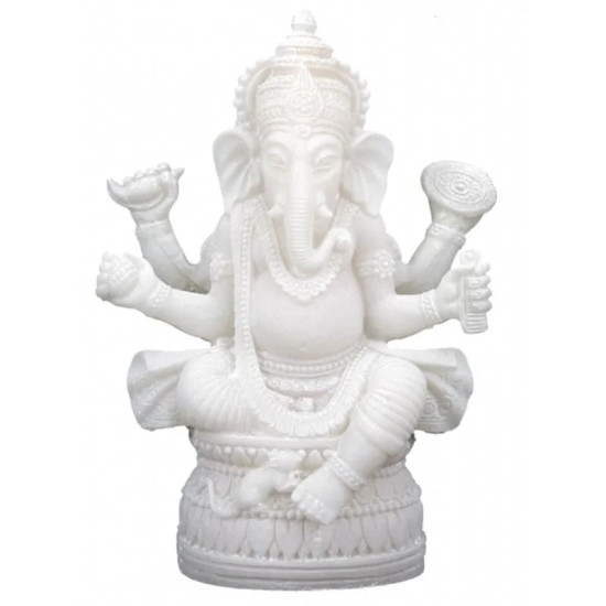 Ganesha - hvit - statue