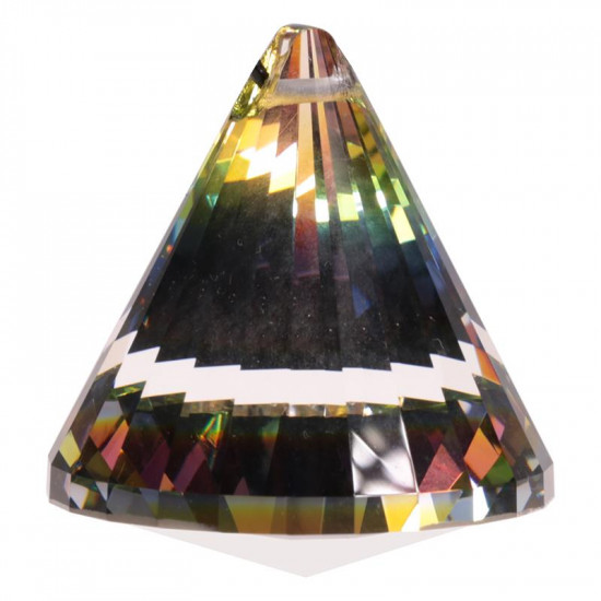 Krystall kjegle - 53mm - AAA-kvalitet - Multicolor