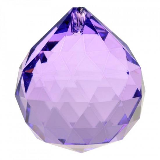 Krystall klode - 40mm - AAA-kvalitet - Fiolett