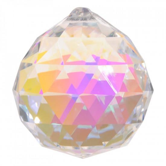 Krystall klode - 40mm - AAA-kvalitet - Dark Pearl