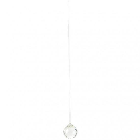 Krystall klode - 40mm - AAA-kvalitet - med oppheng