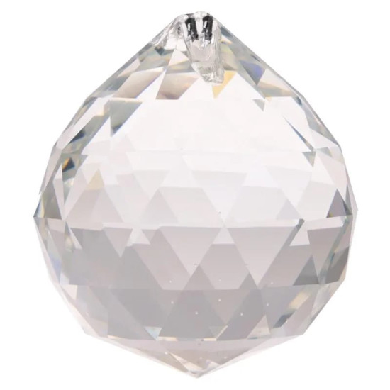 Krystall klode - 50mm - AAA-kvalitet - med hull for oppheng