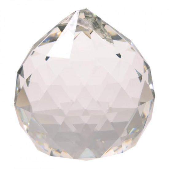 Krystall klode - 30mm - AAA-kvalitet - med hull for oppheng