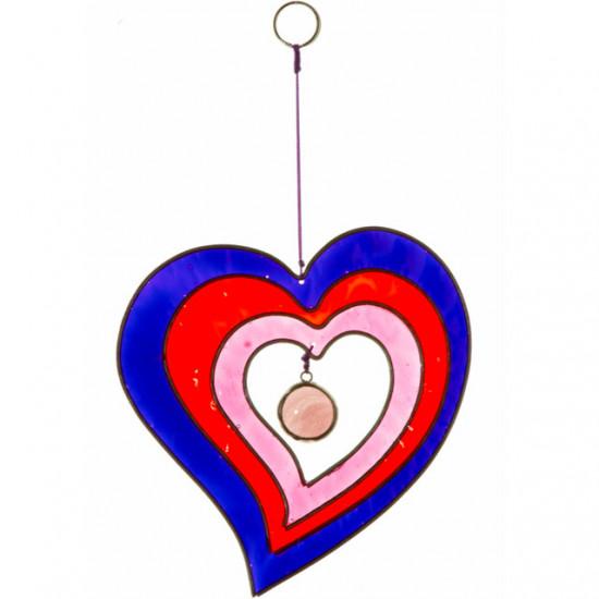 Hjerte, Rød og Lilla - Solfanger
