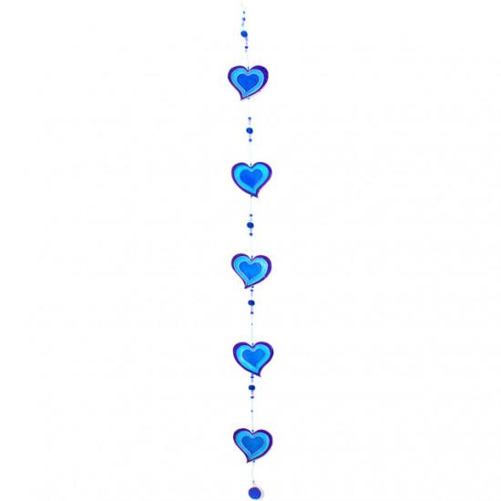 Hjerter, blå - Solfanger