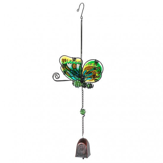 Grønn Sommerfugl - Vindspill - Klokke