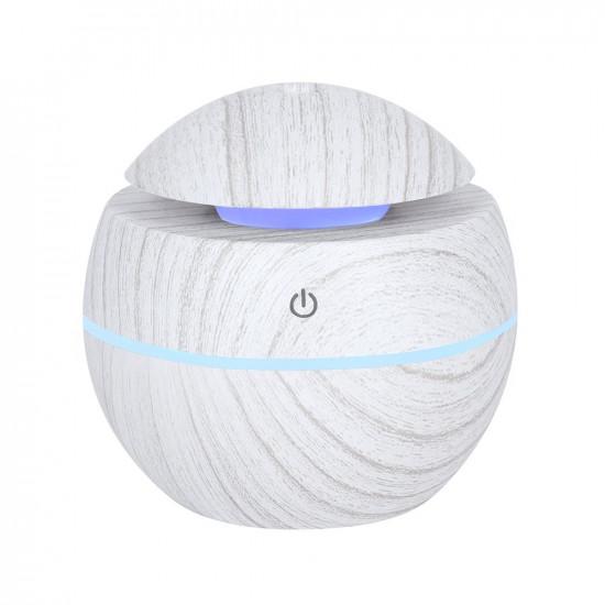 Rund Gråmelert Diffuser - Liten - Luftfukter og aromalampe