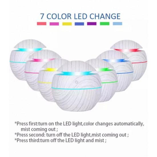Rund Hvit Diffuser - Liten - Luftfukter og aromalampe