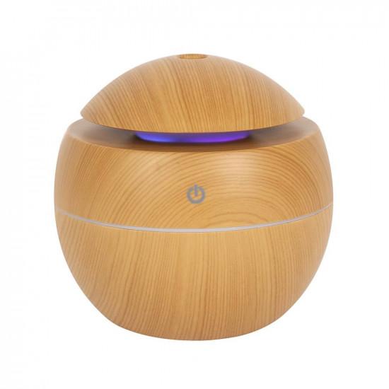 Rund Trefarget Diffuser - Liten - Luftfukter og aromalampe