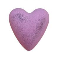 MegaFizz Hearts - Jasmine  with Silver Glitter
