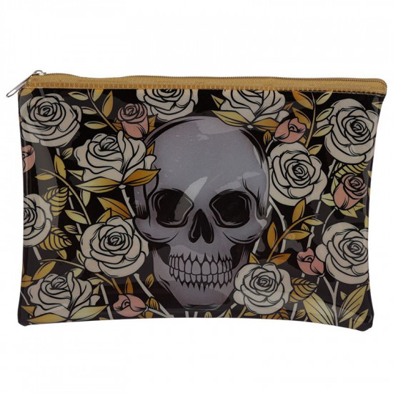 Skulls and roses - Sminkeveske