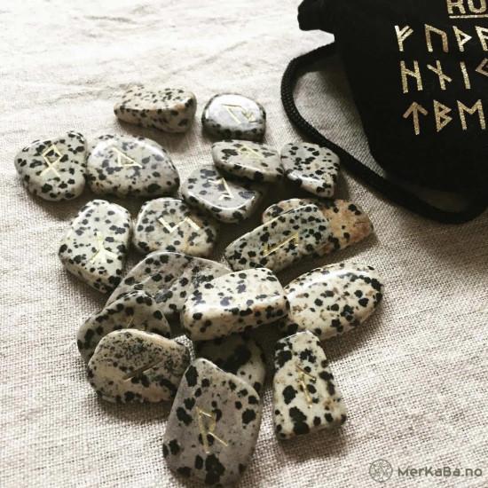 Dalmantiner Jaspis - Runesett
