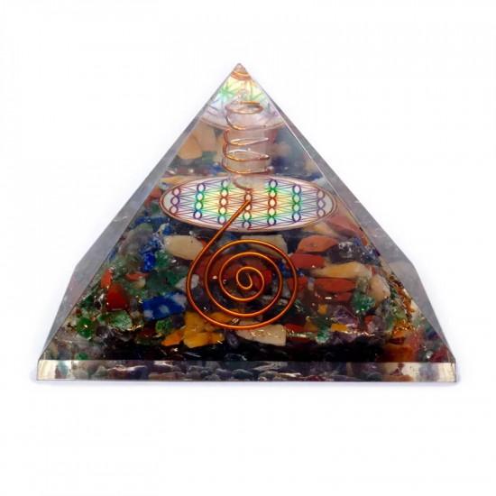 Orgone Mix Pyramide - Flower of life