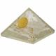 Orgone selenitt pyramide - Flower of Life