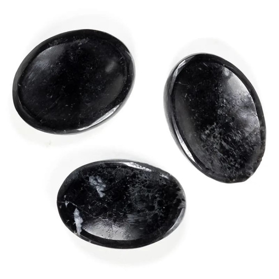 Sort Turmalin - Worry stone