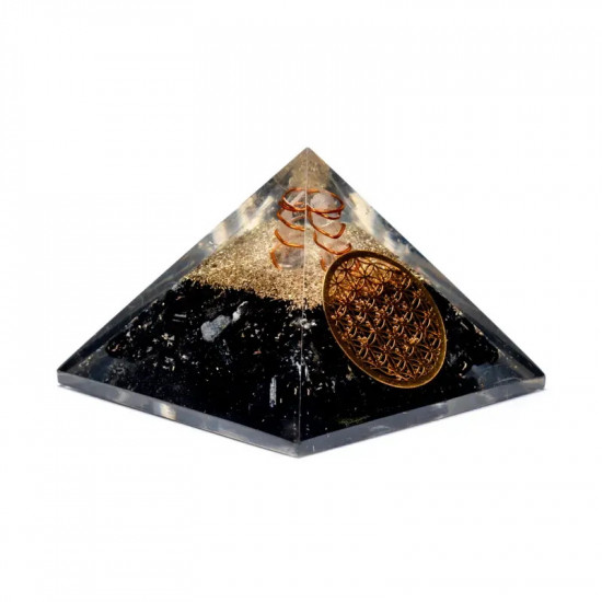 Orgone Turmalin Pyramide - Flower of life