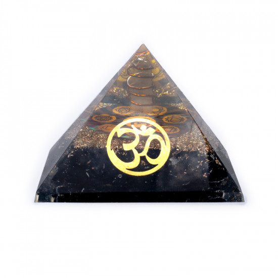 Orgone Sort Turmalin Pyramide - Ohm