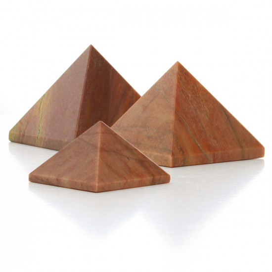 Oransje aventurin - Pyramide