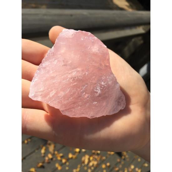 Rosenkvarts - Rå krystall - 75 - 150 gram