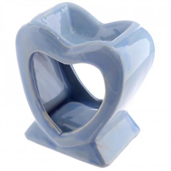 Hjerte - Lyseblå - Aromalampe