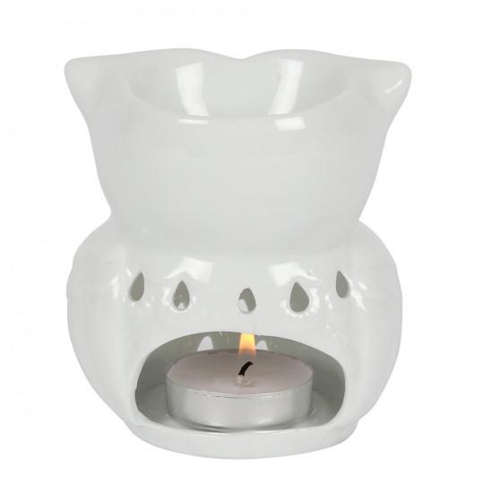 Ugle - Hvit- Aromalampe