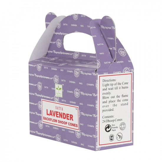 Satya Lavendel - Backflow røkelseskjegler