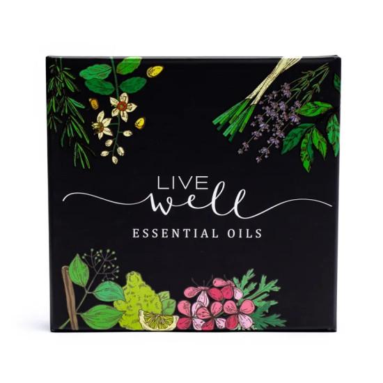 Live Well - Sett med 8 etersike oljer