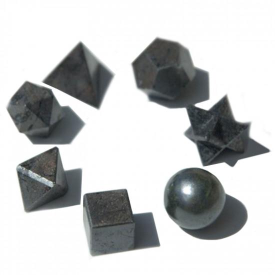 Hellig geometri sett - Sort Agat
