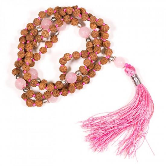 Malakjede - Rudraksha og rosenkvarts