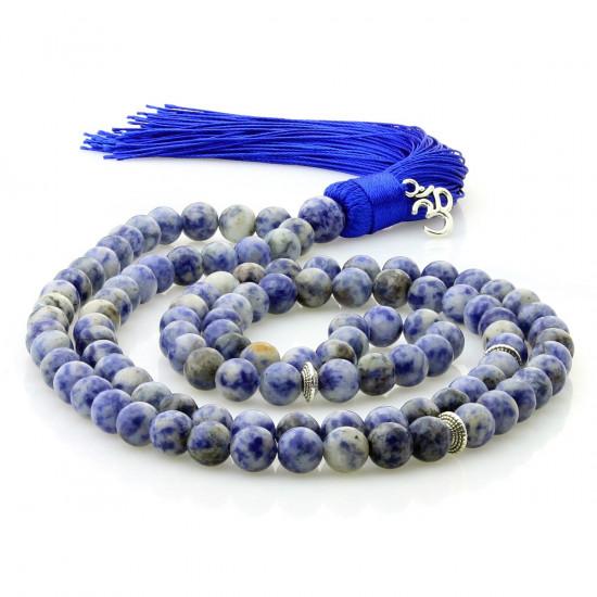 Malakjede - Blå  Jaspis med Ohm charm