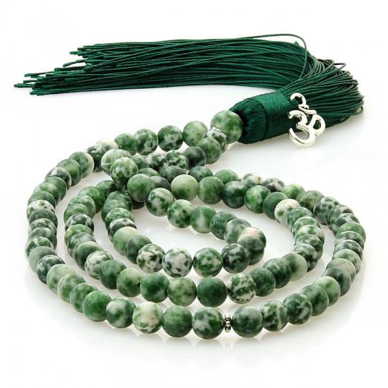 Malakjede - Grønn Jaspis med Ohm charm
