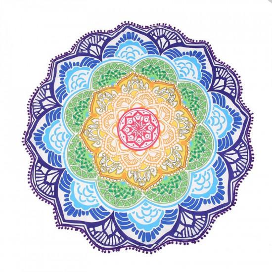 Mandala pledd - Lotus i Chakrafarger