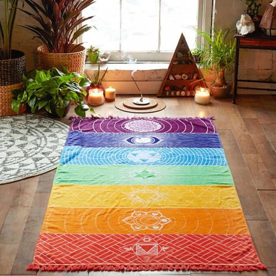 Mandala pledd - Chakra farger og symboler
