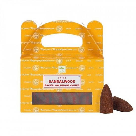 Satya Sandalwood - Backflow røkelseskjegler
