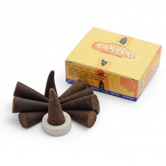 Nag Champa Super Sandal - Røkelseskjegler
