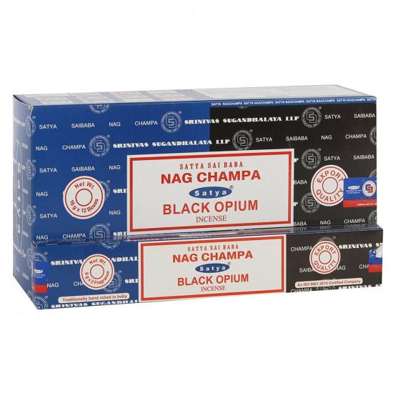 Nag Champa/ Black Opium - Combo - Røkelsespinner