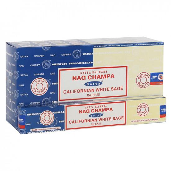 Nag Champa/ Californian White Sage - Combo - Røkelsespinner