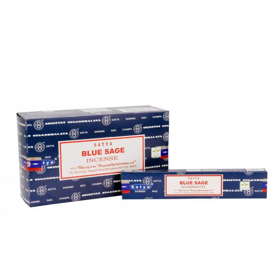 Nag Champa Blue Sage - Røkelsespinner