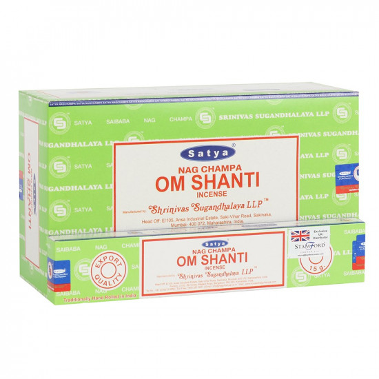 Nag Champa Om Shanti - Røkelsespinner