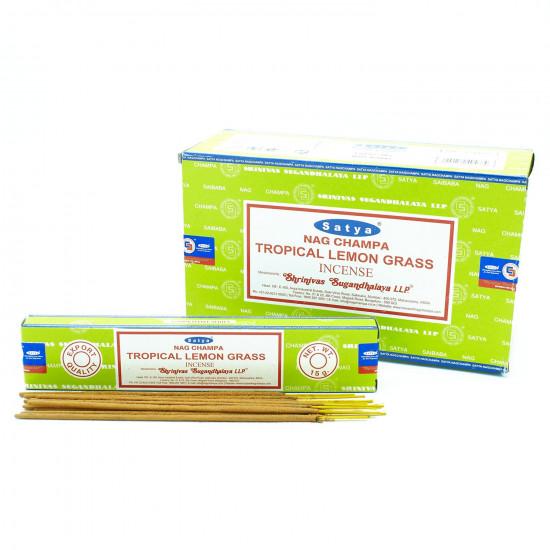 Nag Champa Tropical Lemongrass - Røkelsespinner