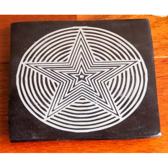 Pentagram- kleberstein røkelsesholder