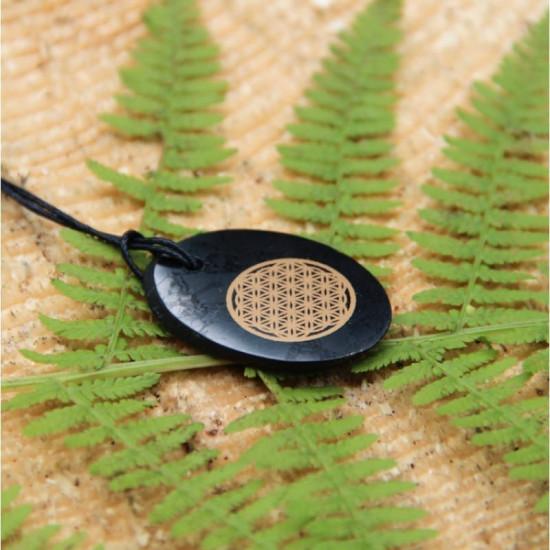 Shungitt - Flower of life - Oval - Anheng