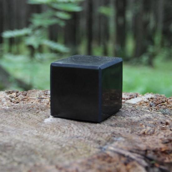 Shungitt - polert - Kube 40mm